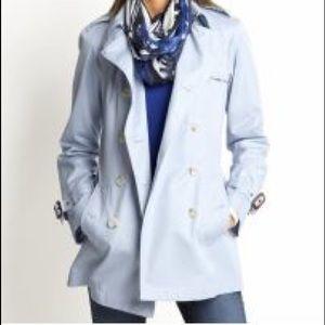 Banana Republic light blue trench coat size XS